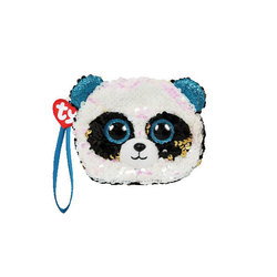 Porte monnaie peluche sequins Bamboo le panda 10 cm