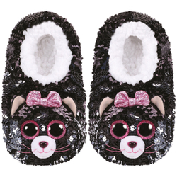 Chaussons small taille 30 - Peluche sequins Kiki le chat