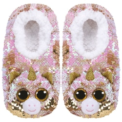 Chaussons medium taille 33 - Peluche sequins Fantasia la licorne