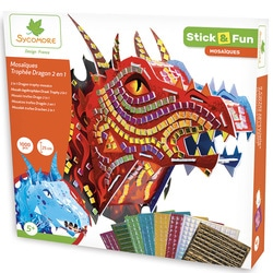Stick and fun mosaïques trophée dragon 2 en 1