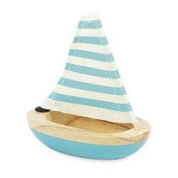 Petit voilier de bain bleu