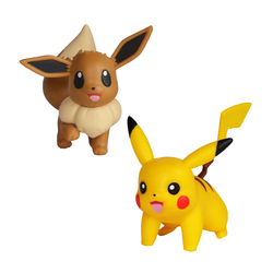 Figurines Pokémon - Pikachu et Evoli 5 cm