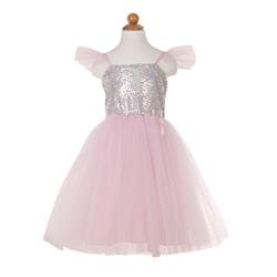 Déguisement robe de princesse à sequins argentés 5-6 ans