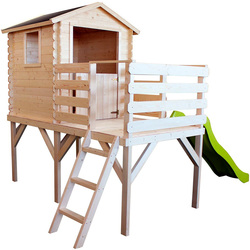 Maison en bois Alice avec toboggan