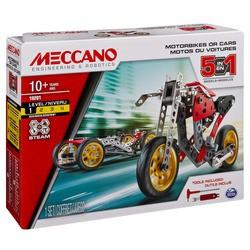 Meccano-Motos ou voitures 5 en 1
