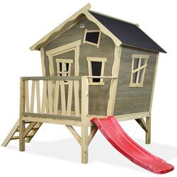 Maison en bois Crooky 300 avec toboggan
