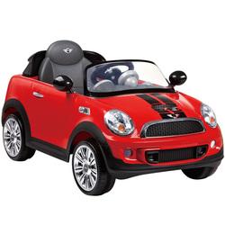 Voiture électrique Mini Cooper 6V rouge avec télécommande
