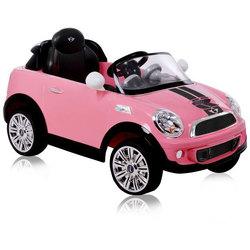 Voiture électrique Mini Cooper 6V rose avec télécommande