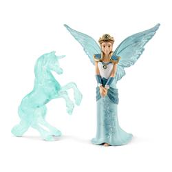 Fée Eyela avec sculpture licorne de glace