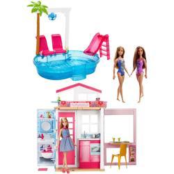 Maison Barbie avec 3 poupées