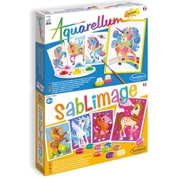 Pack Aquarellum Junior et Sablimage Licornes