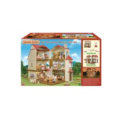 Sylvanian Families - 5302 - Coffret la grande maison éclairée et le cosy cottage du village