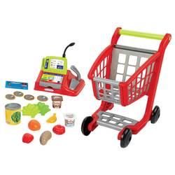 Chariot de supermarché avec caisse enregistreuse