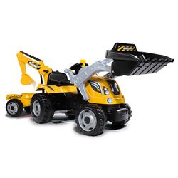 Tracteur à pédales Builder Max avec remorque