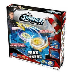 Pack Deluxe Spinner MAD - 2 blaster, 2 toupies LED et une arène