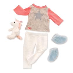 Tenue pour poupée Our Generation pyjama licorne