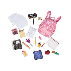Accessoires pour poupée Our Generation - matériel d'école
