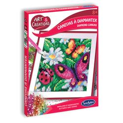 Tableau à diamanter - Papillons et marguerites