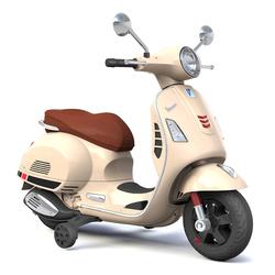 Porteur électrique moto Vespa crème 12V