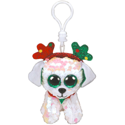 Porte-clés sequins Flippables Sugar le chien 9 cm