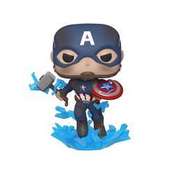 Figurine Captain America avec Mjolnir 573 Avengers Engame - Funko Pop