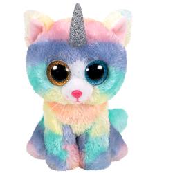 Peluche Beanie Boo's - Heather le chat licorne 23 cm