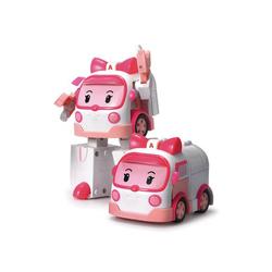 Voiture Robot Transformable  2 en 1 - AMBRE - ROBOCAR POLI - ambulance