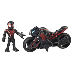 Figurine Kid Arachnid ou Captain America avec moto - Marvel Super-Hero Adventures