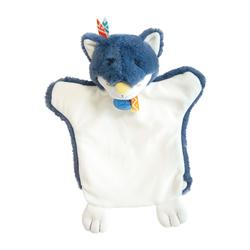 Marionnette loup bleu
