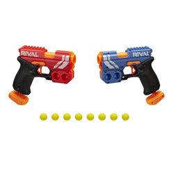 Pistolets Nerf Rival Duel pack KO XX-100 rouge et bleu