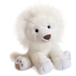 Peluche lion des neiges 40 cm