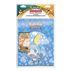 Pack cahier range-cartes avec booster Pokémon  Épée & Bouclier 3