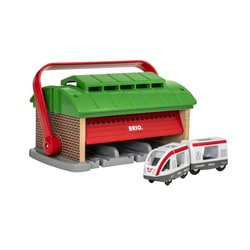 33474 - Brio World - Garage pour trains portatif