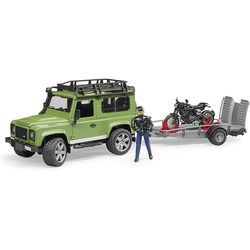 Kit véhicules Land Rover - moto et remorque