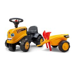 Porteur tracteur JCB avec remorque