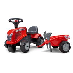 Porteur tracteur Massey Ferguson avec remorque