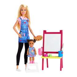 Poupée Barbie professeur d'art