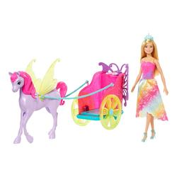 Poupée Barbie et sa calèche 2 en 1