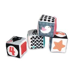 Cubes d'éveil en tissu noir et blanc
