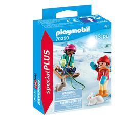 70250 - Playmobil Spécial Plus - Enfants avec luge
