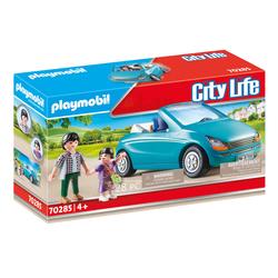 70285 - Playmobil City Life - Papa avec enfant et voiture cabriolet