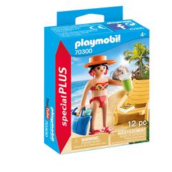 70300 - Playmobil Spécial Plus - Vacancière avec transat