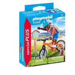 70303 - Playmobil Spécial Plus - Cycliste avec marmotte