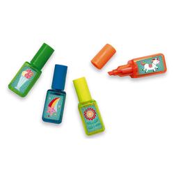 4 stylos surligneurs Licorne