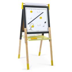 Tableau réglable en bois ardoise et magnétique - jaune
