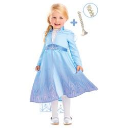 Déguisement Elsa avec tresse La Reine des Neiges 2 - 3/4 ans