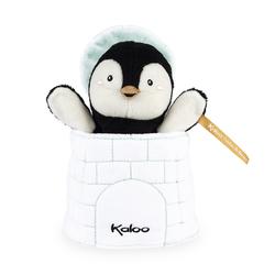 Doudou marionnette cache-cache Gabin le pingouin
