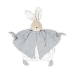 Doudou lapinou gris en coton bio