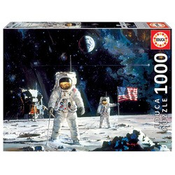Puzzle 1000 pièces – First Men On The Moon, Robert Mc Call