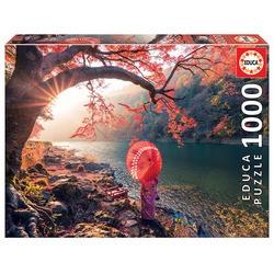 Puzzle 1000 pièces, lever de soleil sur la rivière Katsura, Japon